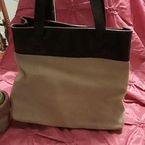 Liz Claiborne tan and brown large purse